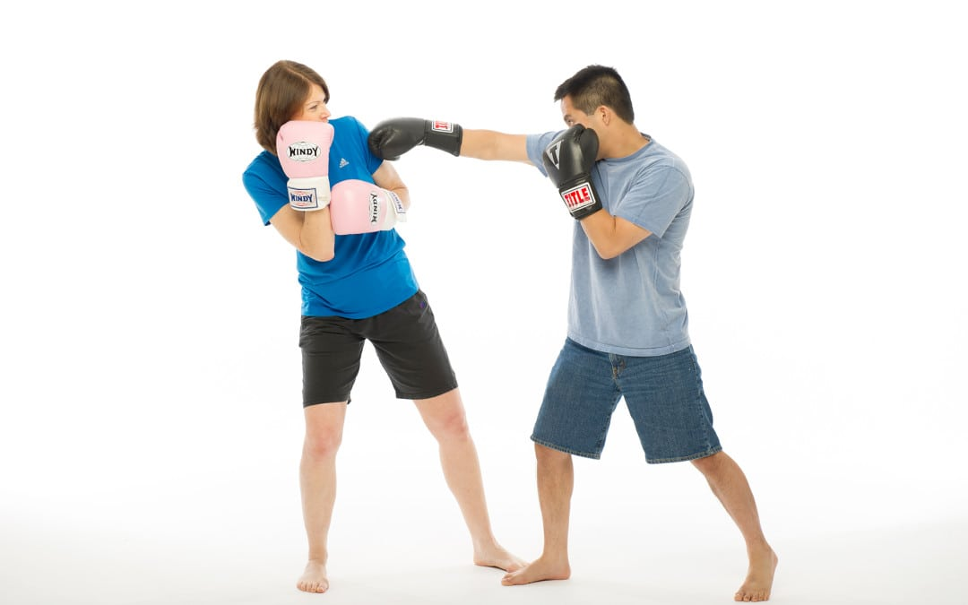 Susan and Mars sparring