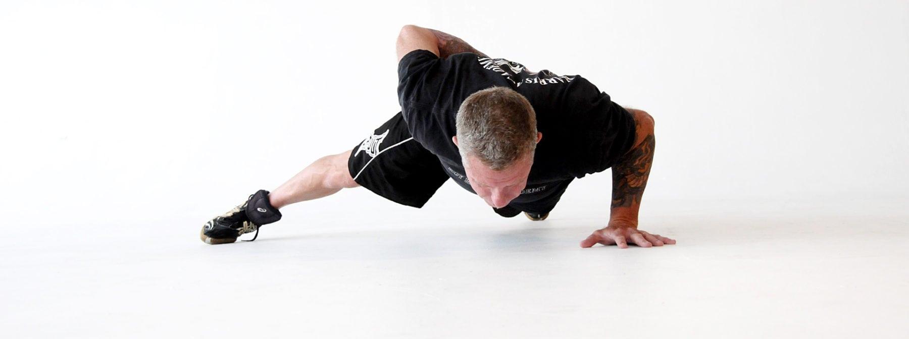 Al performing a push up