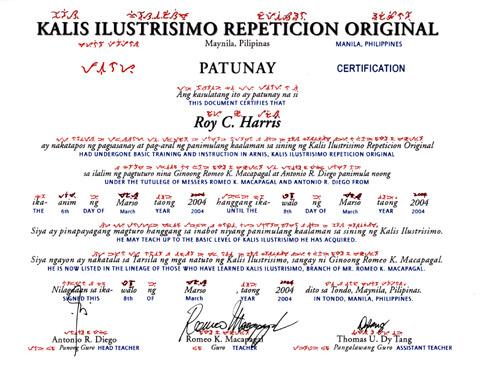 ilustrisimo certificate